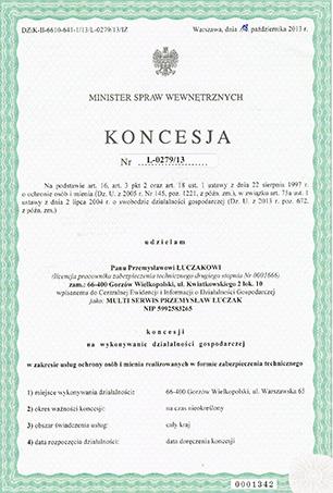 Koncesja Ministerstwa Spraw Wewnetrznych